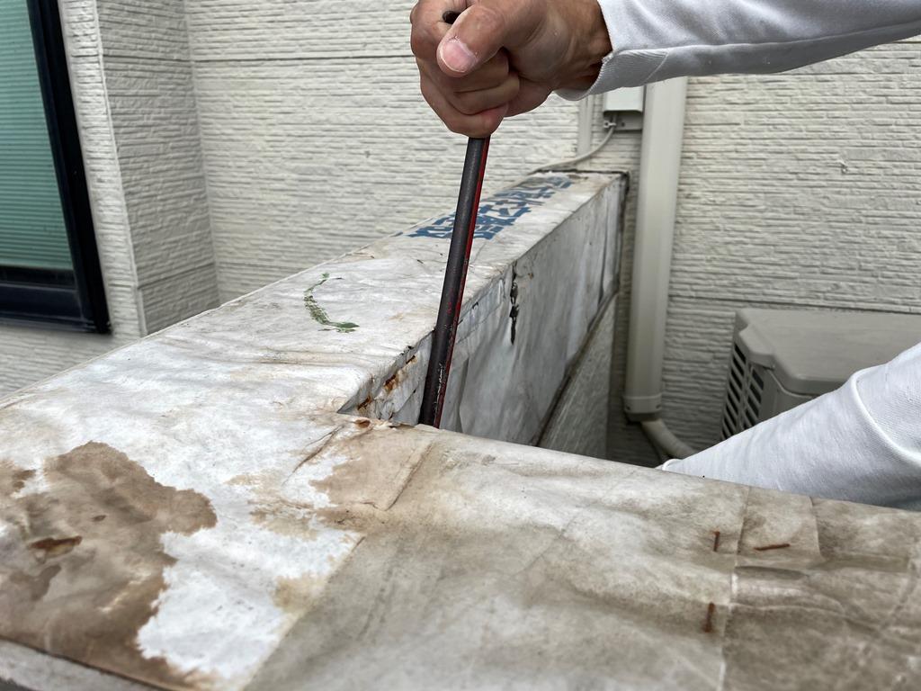 ベランダ外壁張り替え工事