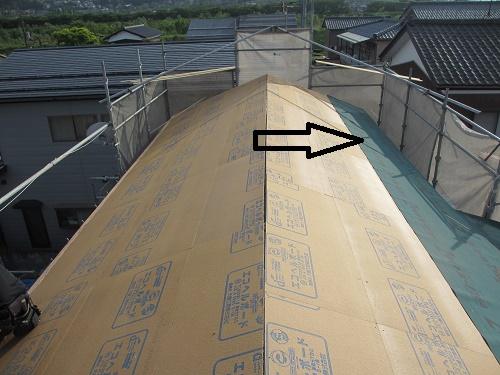 屋根葺き替え工事、下葺