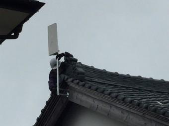平方アンテナ 設置 破風板