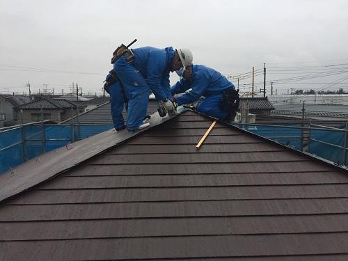 屋根カバーリング 屋根葺き ガルバリウム鋼板