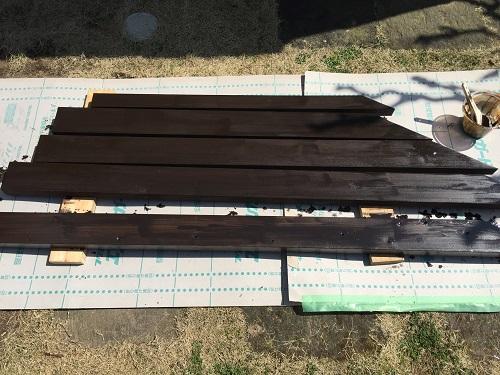 テラス 木材 新潟市秋葉区 塗装