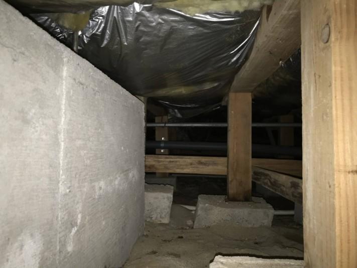 床下換気扇設置