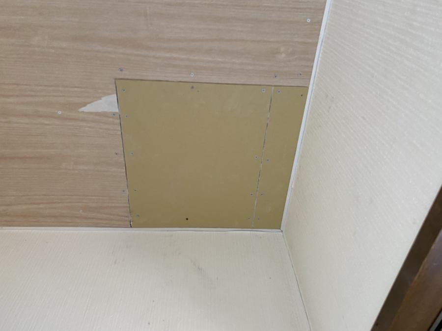 天井雨漏れ部下地ボード・クロス貼り替え工事