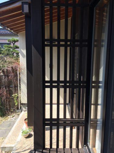 格子 塗装 木部 屋根屋さん 屋根やさん 新潟市秋葉区