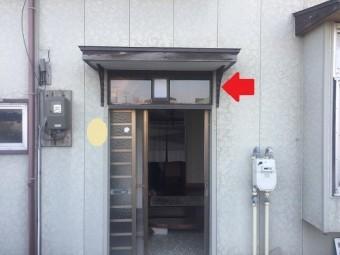 玄関周り 塗装 サビ