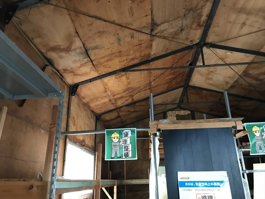 築28年の鉄骨プレハブ倉庫の建て替え着手
