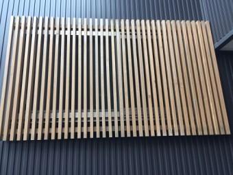 塗装 木格子 新潟市西区