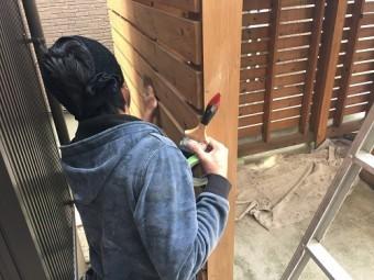 新潟市西区 ケレン作業 やすり 下処理