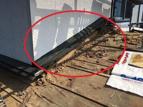屋根葺き替え工事 土居棟 既存の水切り