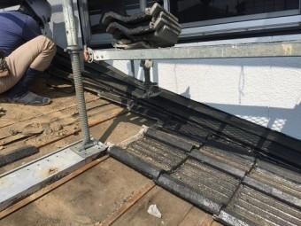屋根葺き替え工事、瓦屋根解体