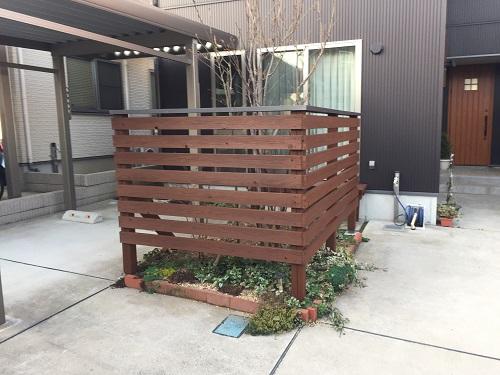 木部塗装 キシラデコール チーク 新潟市西区