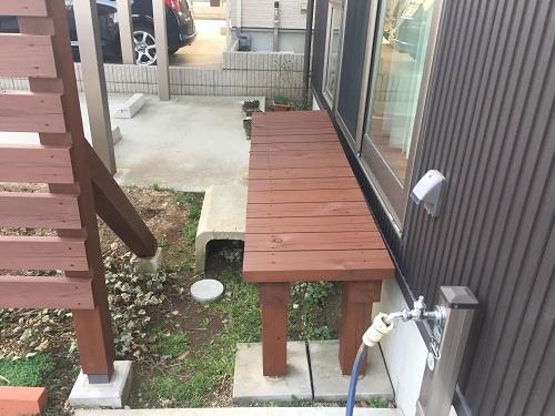 デッキ 新潟市西区 外装木部塗装