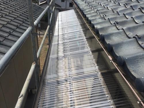 屋根葺き替え 強風 ポリカ波板