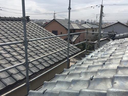 落下防止 新潟市西区 屋根材交換