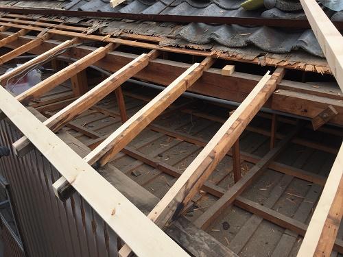 屋根下地 垂木交換