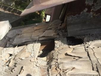 瓦屋根修繕 土居棟解体