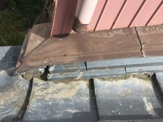 瓦屋根修繕 土居棟復旧