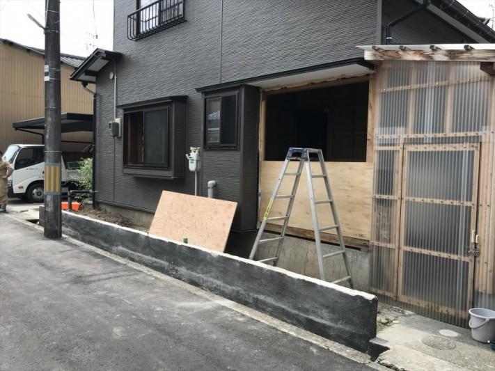 既存ブロック塀解体工事