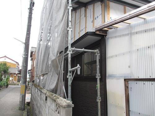 外壁張替工事、外壁張り
