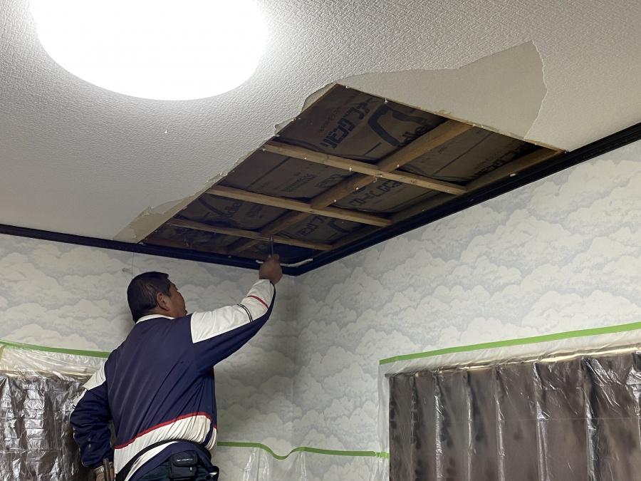 天井貼り替え工事