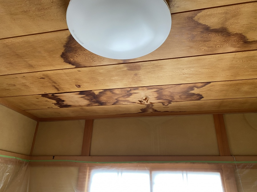 目透かし突板天井張り替え