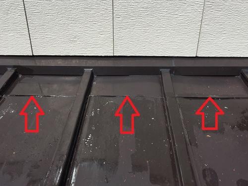 縦葺屋根 継ぎ目