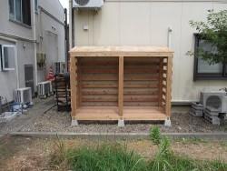 薪棚の屋根工事