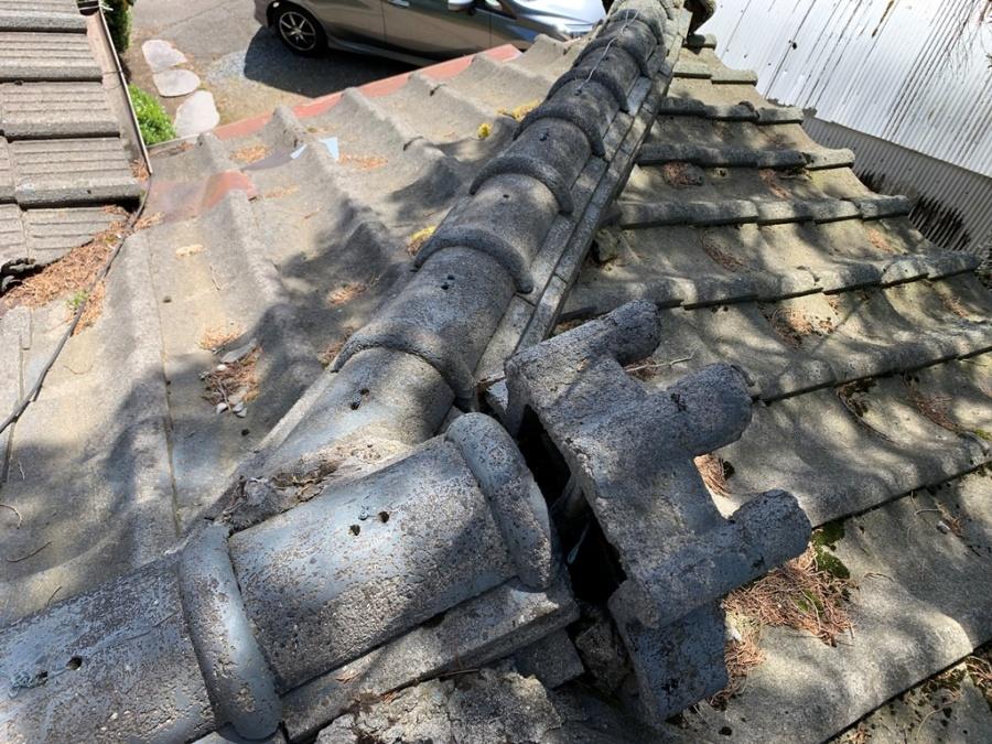 セメント瓦の劣化具合
