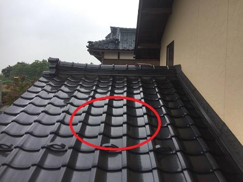 雨漏れ現調 雨漏れ箇所 瓦屋根