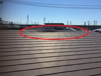 横葺板金屋根 はがれ