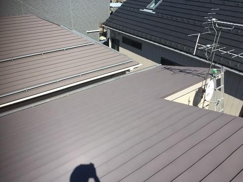 横葺板金屋根 屋根全体