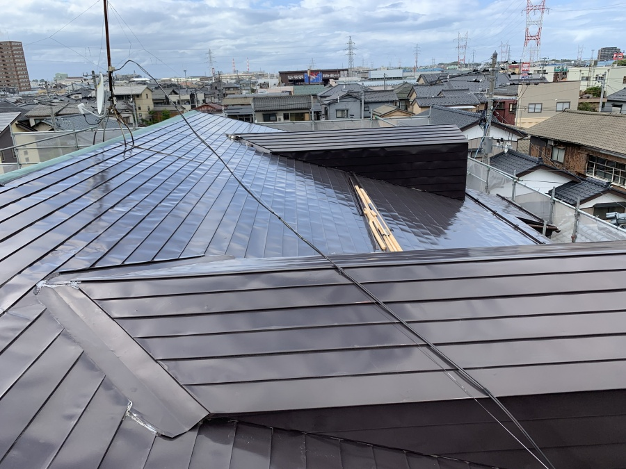 新潟市東区アパート屋根解体