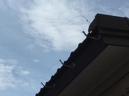 破風板交換 雨樋解体