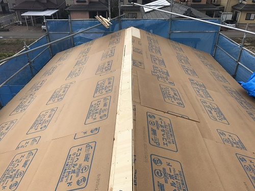 屋根張替工事、屋根下地造作