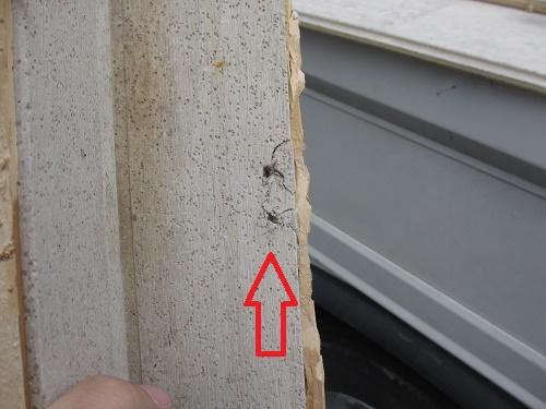 外壁材破損部分