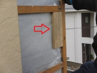 外壁下地造作、釘用下地