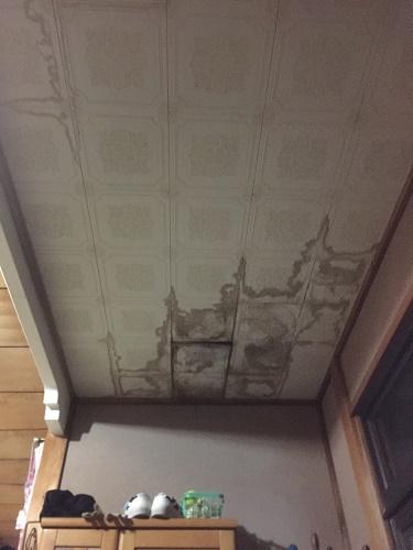 玄関天井 テックス 染み