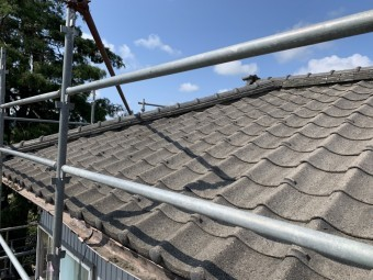 新潟市秋葉区にてセメント瓦屋根葺き替え工事