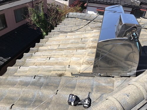 温水ソーラー パネル解体