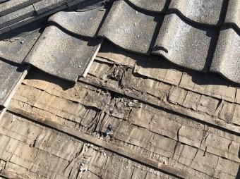 雨漏れ セメント瓦
