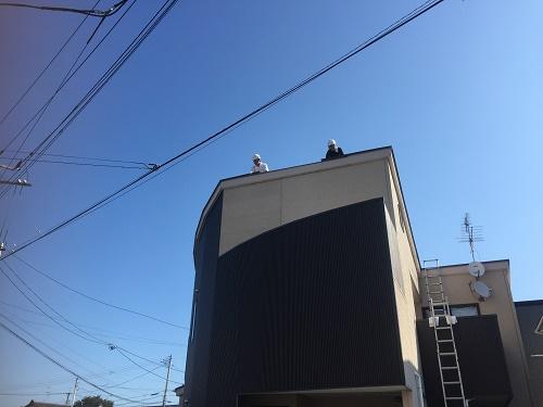屋根工事 風景