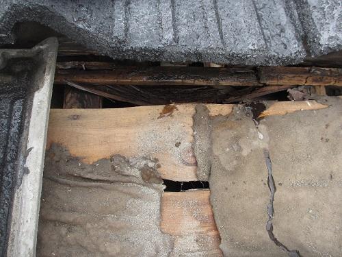 屋根雨漏れ状況