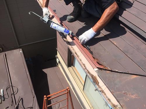 板金屋根 シーリング