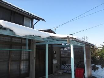田上 屋根 雪 積雪40㎝