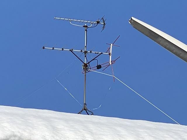 TVアンテナ支線の緩み