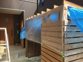 小屋 塗装 養生