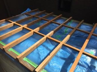 小屋 屋根 塗装 養生