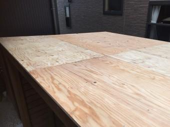 野地板施工 構造用ラーチ 12㎜