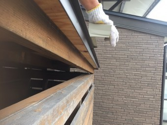 屋根葺き ケラバ部 施工