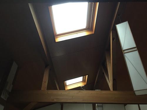 天窓 トップライト 雨漏り 室内